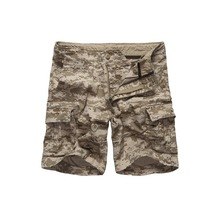 Mens Army Military Camouflage Cargo Shorts Casual Work Multi