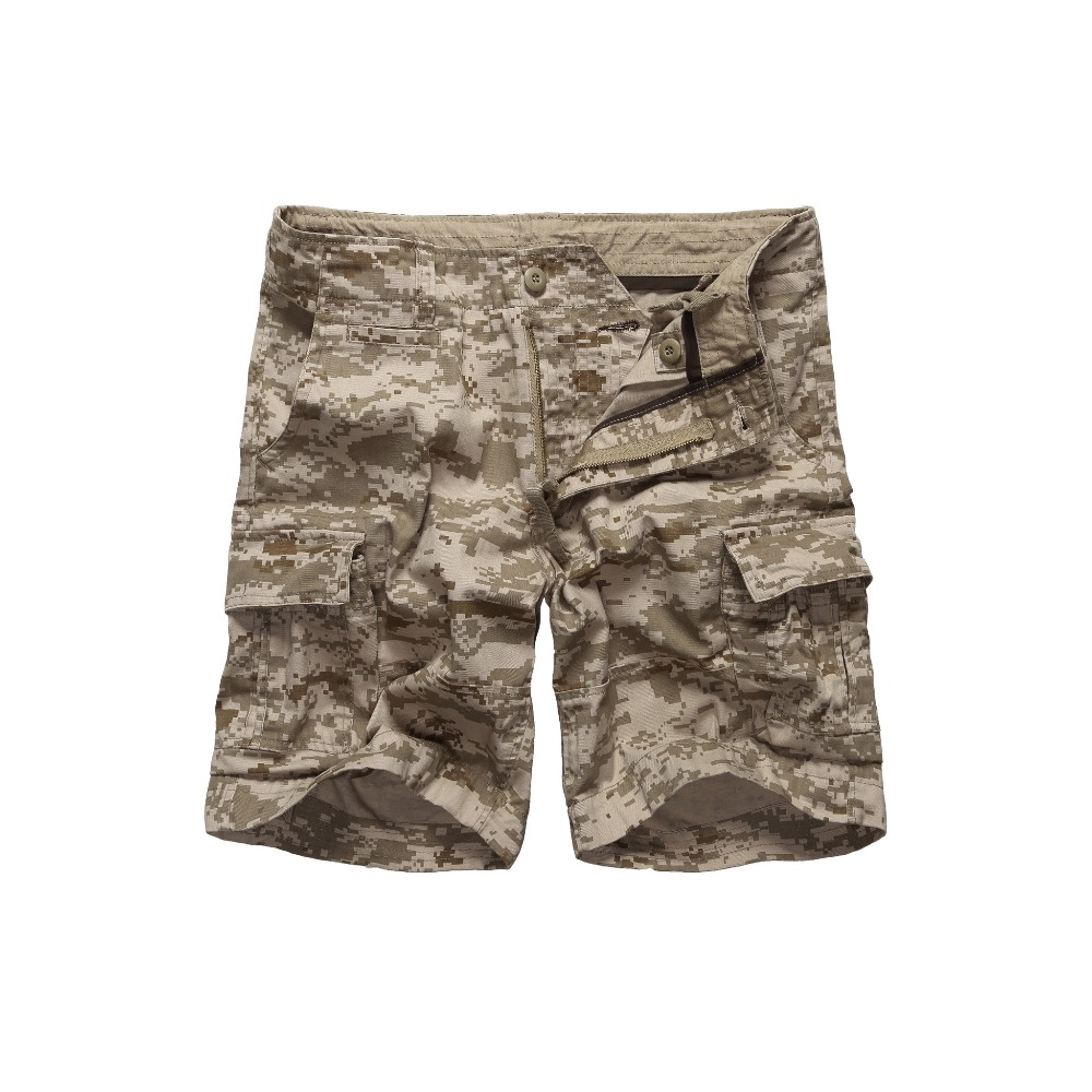 Mens Army Military Camouflage Cargo Shorts Casual Work Multi-pockets Shorts Waist 30 to 42 inches