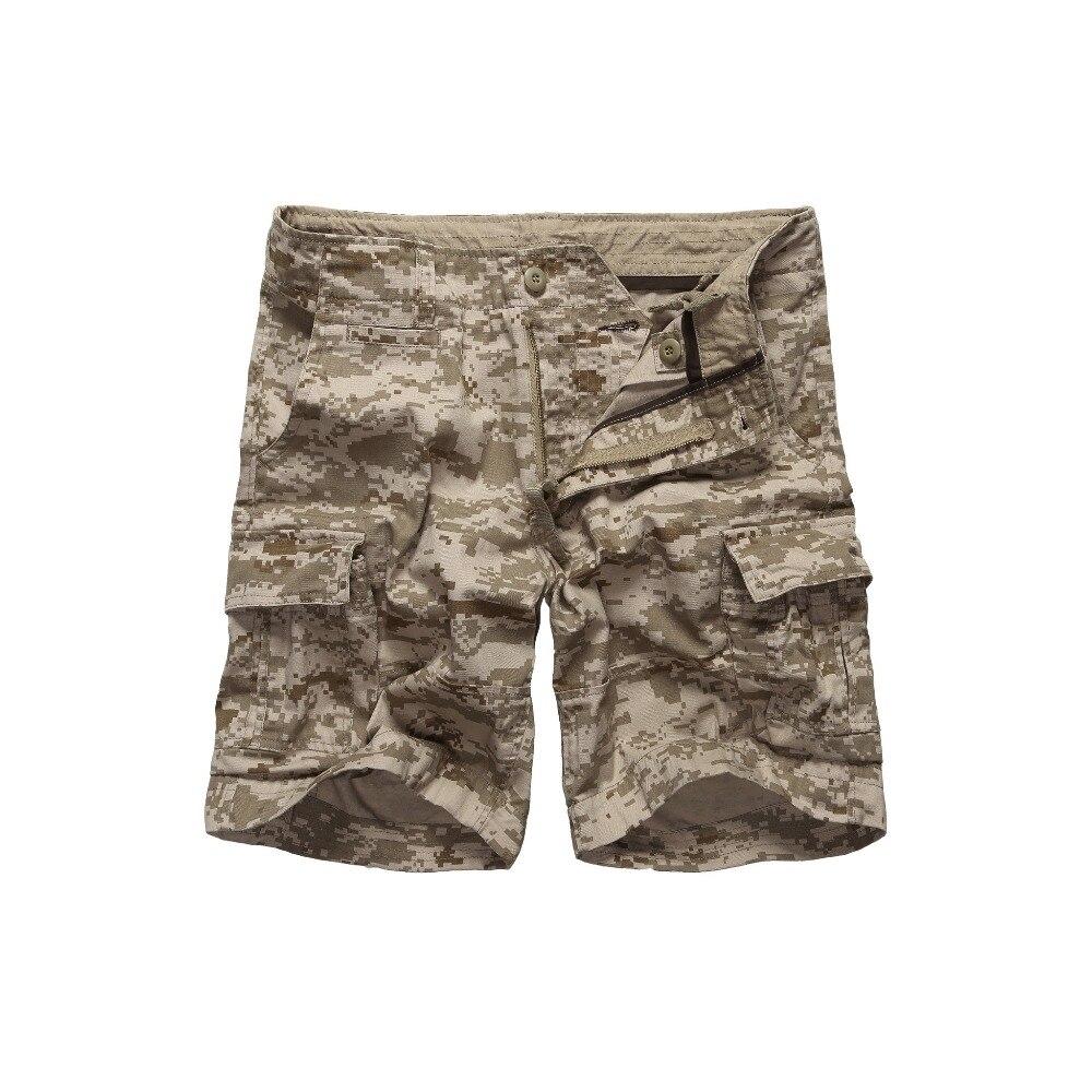 Militar Do Exército dos homens Camuflagem Shorts da Carga Ocasional Trabalho Multi-pockets Shorts Cintura 30 para 42 polegadas