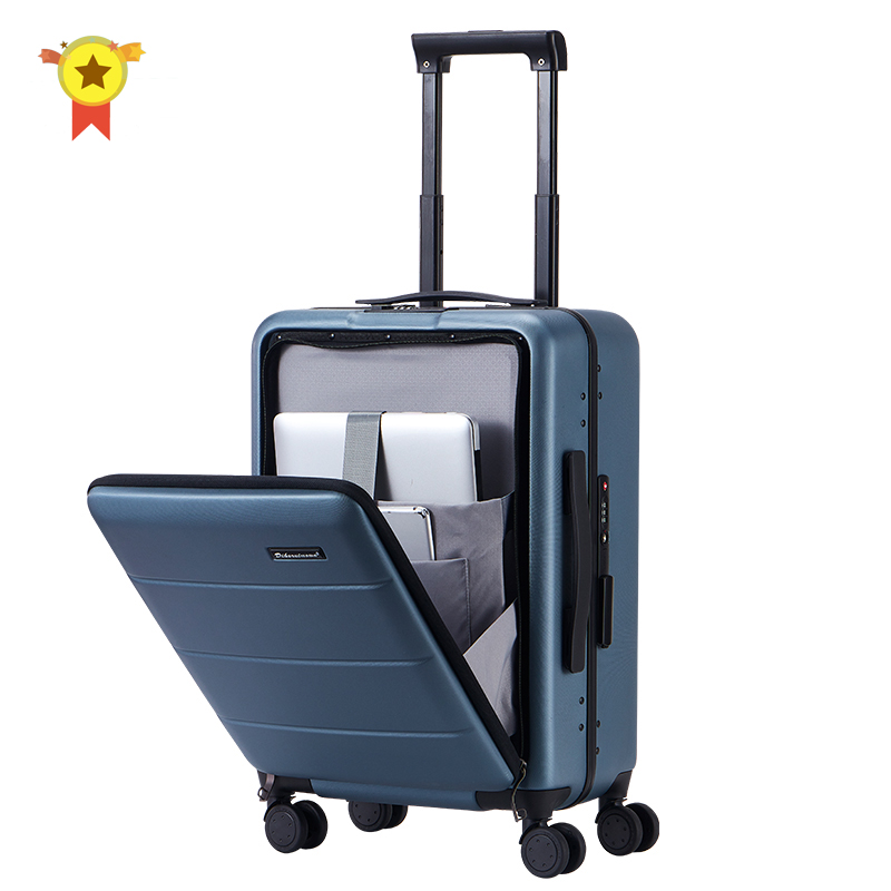 CLOUD Luggage Sets Travel Suitcase Color : White, Size : 20 inches Male and Female Lightweight PC Air Carrier Trolley Case Lock 4 Wheels