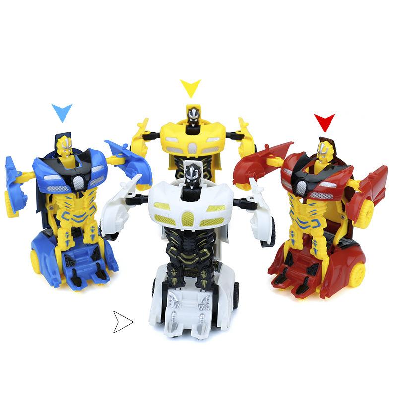 Hot Sales Mini Cartoon Transformer Toy Car Children'S Educational Jingang Inertia Transformation Autobots Toy