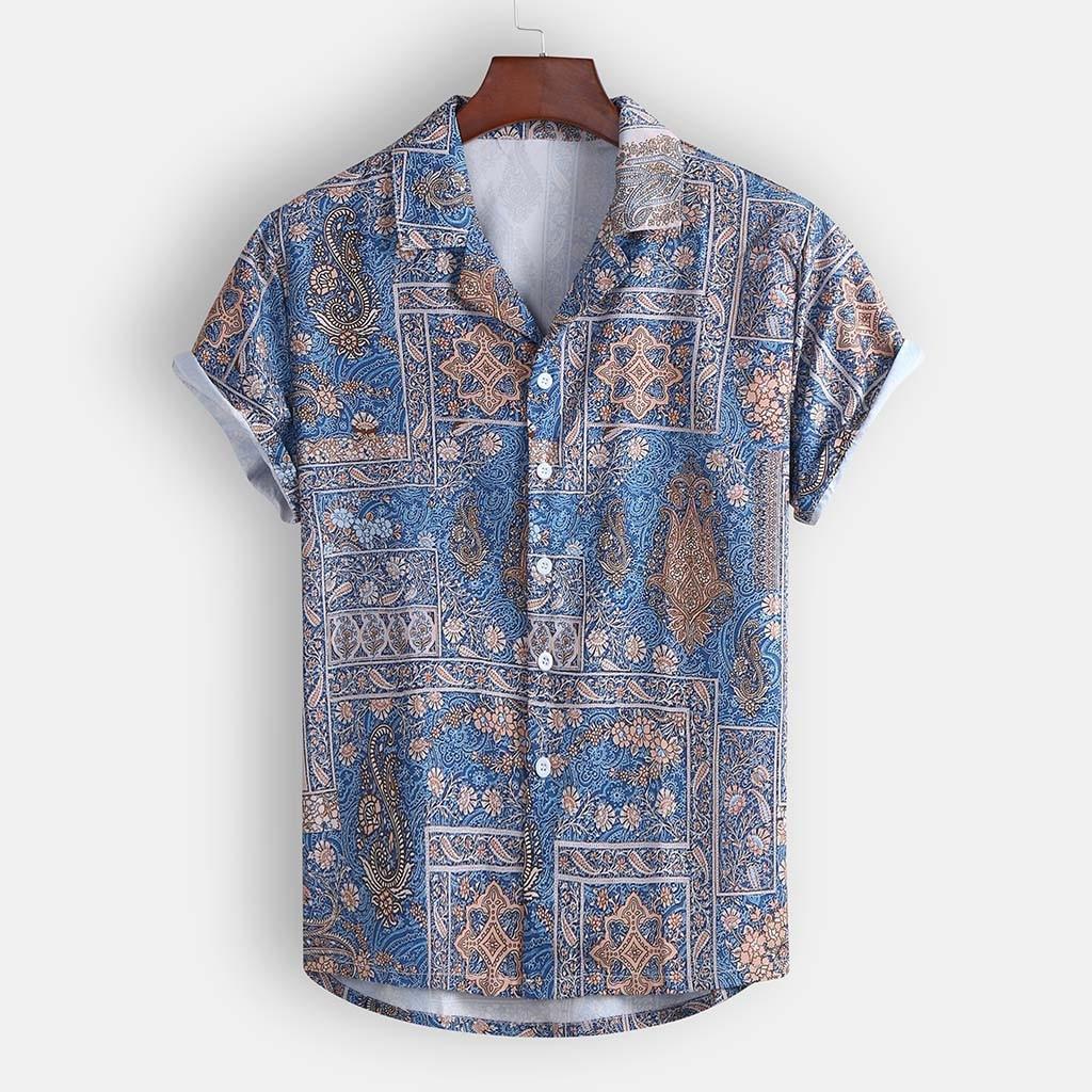 גברים של חולצה וחולצה עבור קיץ אופנתי מזדמן דש הדפסת חולצות קצר שרוול חולצה למעלה היומיומי Blusas דה ver O 2019
