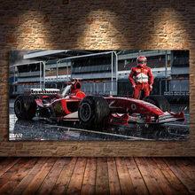 Ferraris F2004 Auto F1 Racing Sport Auto 'S Wall Art Poster En Prints Olie Canvas Schilderij Voor Thuis Woonkamer Decor unframed