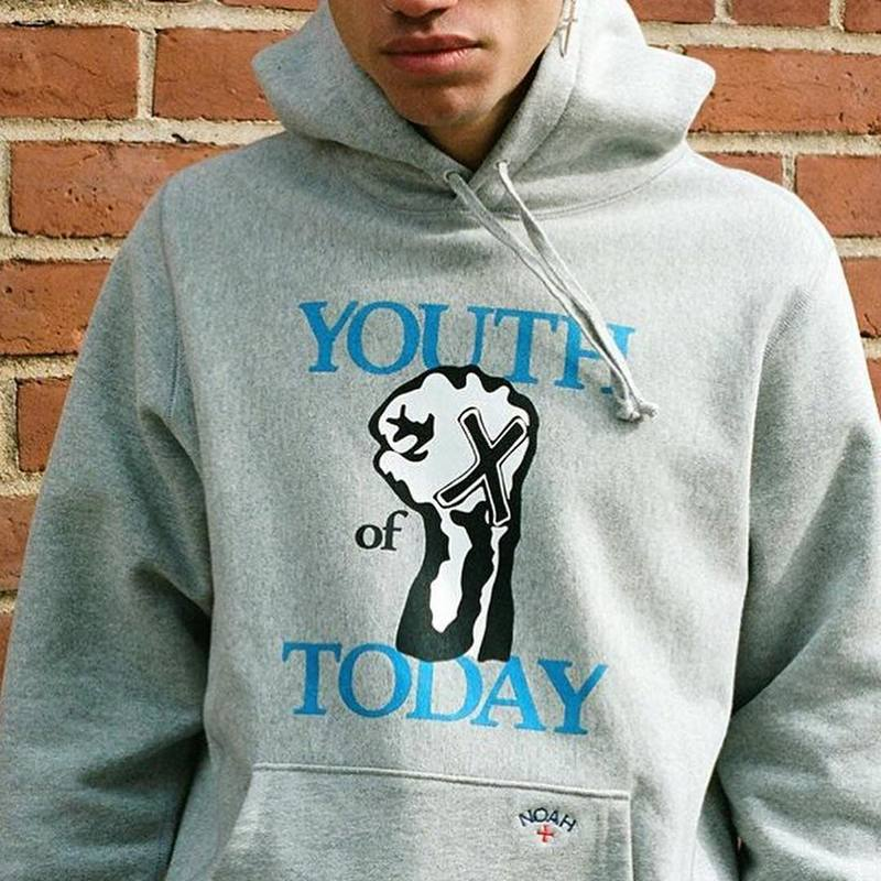 19SS NOAH Hoodie Youth Of Today Logo Noah Sweatshirts Men Women Streetwear Kanye West Hip Hop NOAH Pullover Hoodie Men
