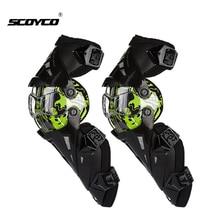 Scoyco rodilleras de motocicleta para hombre, equipo de protección para motocicleta CE, para Motocross, equipo para motocicleta todoterreno