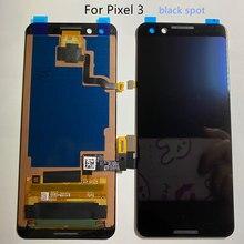 Tela amoled original google pixel 3 ponto preto display lcd de toque digitador da tela para o google pixel3 lcd substituição da tela