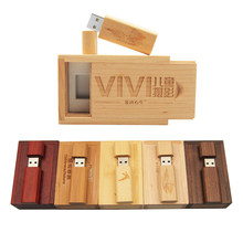 Rose Holz Ahorn Holz Personalisierte LOGO Usb-Stick Usb 2.0 4GB 8GB 16GB 32GB 64GB pendrive Stift Stick Fotografie Geschenk Walunt(China)
