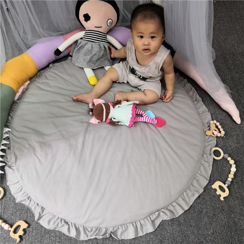 H946eb3c5cea848bfa71d7634d5fb71b3Z Baby play mat infant playmat Ruond Cotton Crawling Mat kids Game Rugs Children Room Floor Carpet decorative mats Photo Props