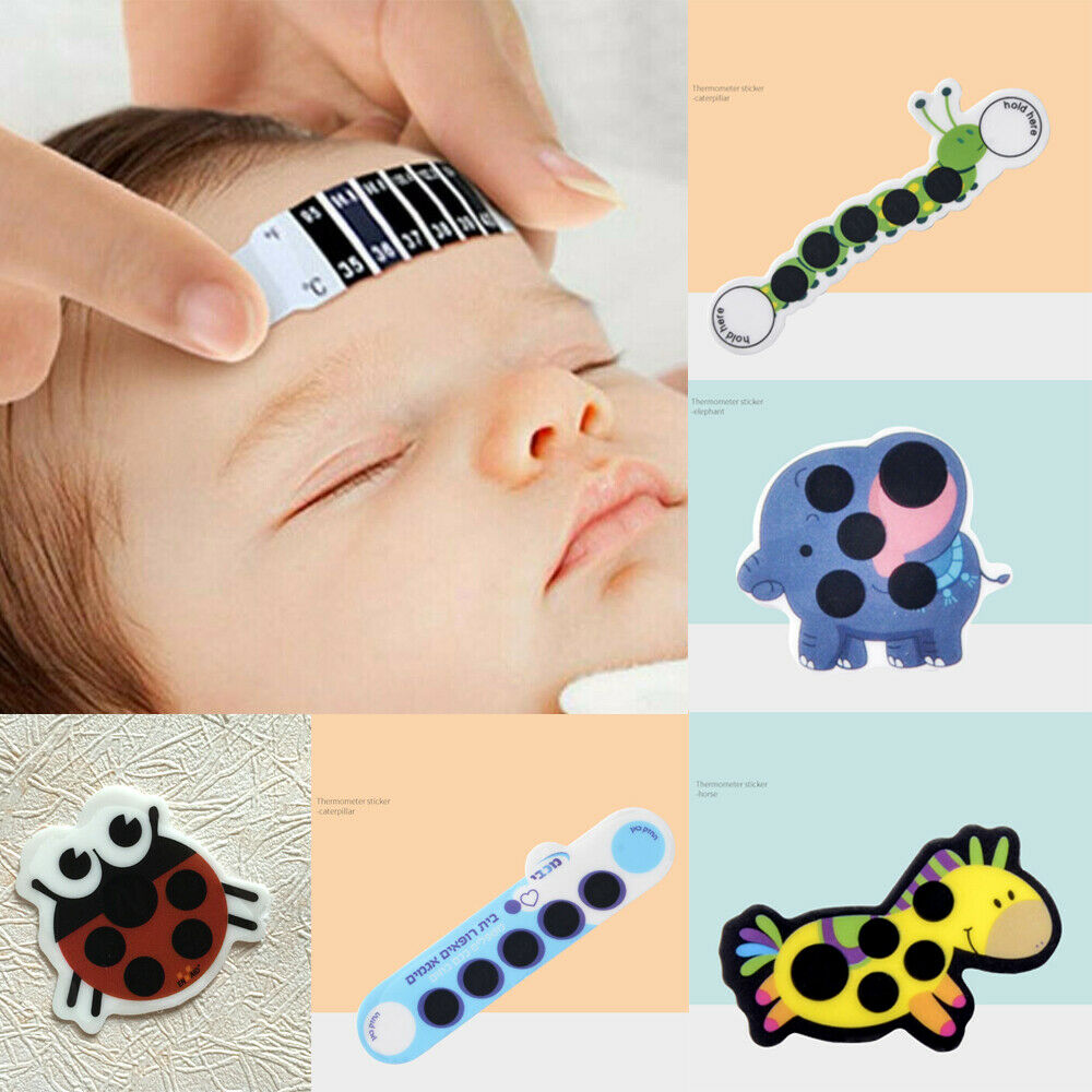10PCS New 2020 Children'S Forehead Thermometer Lcd Color Changing Body Temperature Sticker