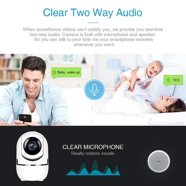 QZT IP Camera WiFi Camera IP 360 Night Vision Baby Monitor Indoor 2
