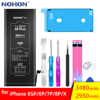 NOHON Battery For Apple iPhone 6S Plus 6 7 6SPlus iPhone6 iPhone7 6G 7G High Capacity Replacement Mobile Phone Batteries Bateria