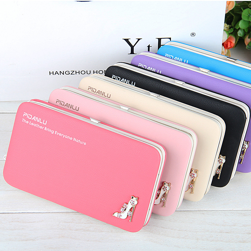Women Clutch Wallet Case For iPhone 11 Pro 6 7 8 Plus X XS Max XR Handbag Zipper Purse Card Bag for Xiaomi Mi 9T Redmi Note 7 8 image