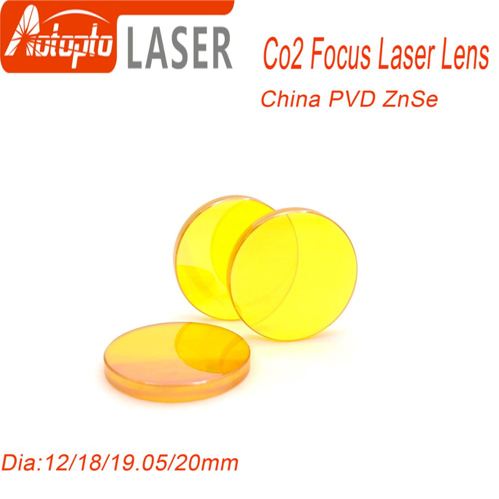 China PVD ZnSe Dia.12 18 19.05 20mm FL38.1 50.8 63.5 76.2 101.6mm CO2 Laser Focus Lens For Co2 Laser Cutting Engraving Machine