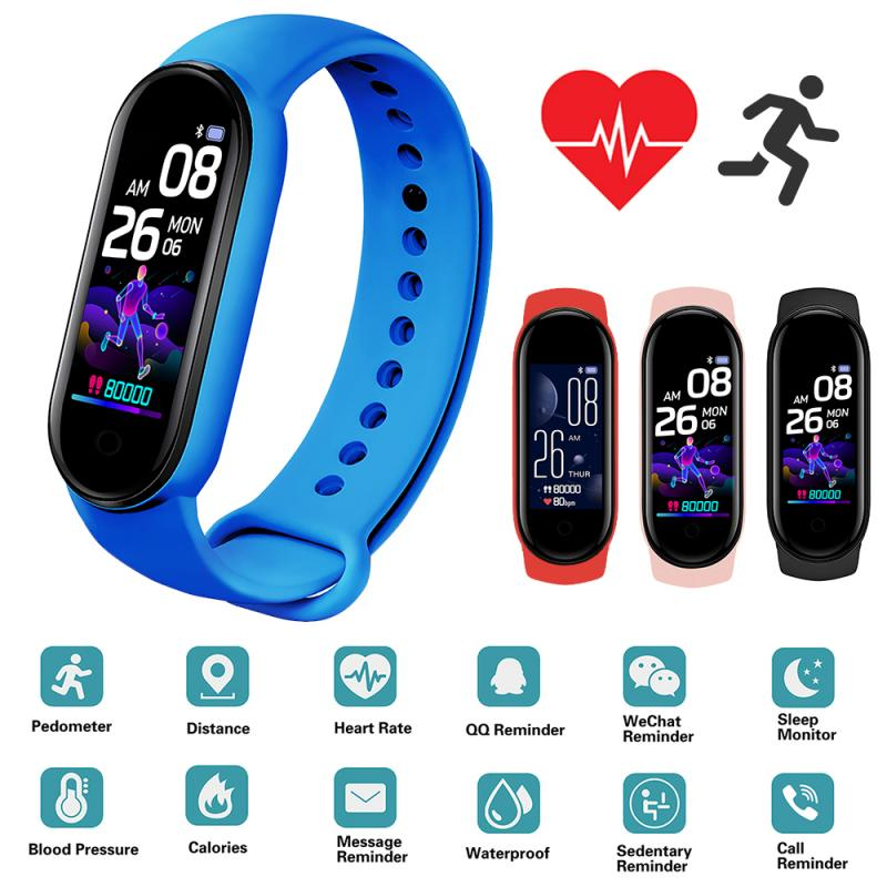 Умный спортивный фитнес-браслет, шагомер, монитор сердечного ритма и артериального давления, Bluetooth Смарт-браслет, браслеты, портативный фит...