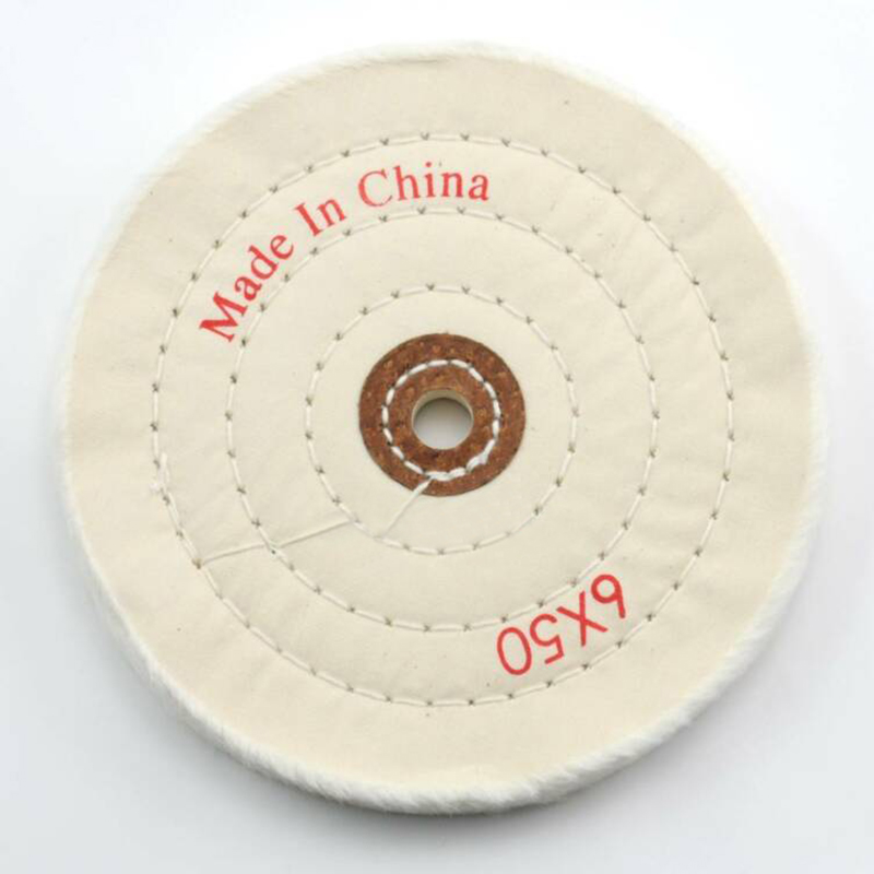 Flannel Cotton Cloth Diameter 150mm Cloth Polishing Buffing Wheel Cleaning Pad Power Angle Bench Grinder Tool