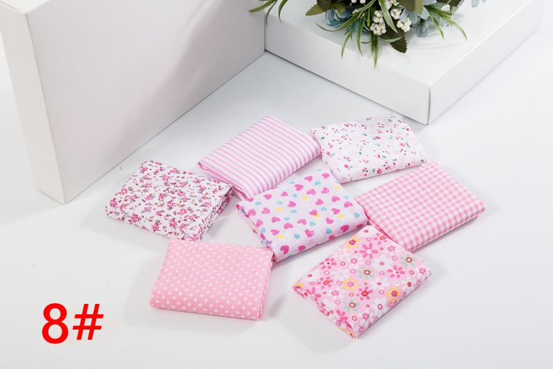 H946f37433bd0443ea7590b3027f383b9f 25x25cm and 10x10cm Cotton Fabric Printed Cloth Sewing Quilting Fabrics for Patchwork Needlework DIY Handmade Accessories T7866