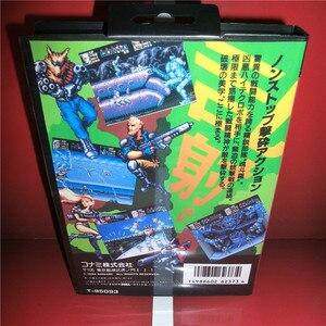 Image 2 - Karta MD Contra twardy korpus japonia pokrywa z pudełkiem i instrukcja dla MD MegaDrive Genesis gra wideo konsoli 16 bitowa karta MD
