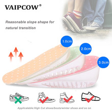 Height Increase Elevator Insoles Pads Soles For Shoes Women Men Silicone Gel Lift Shoe Heel Insert