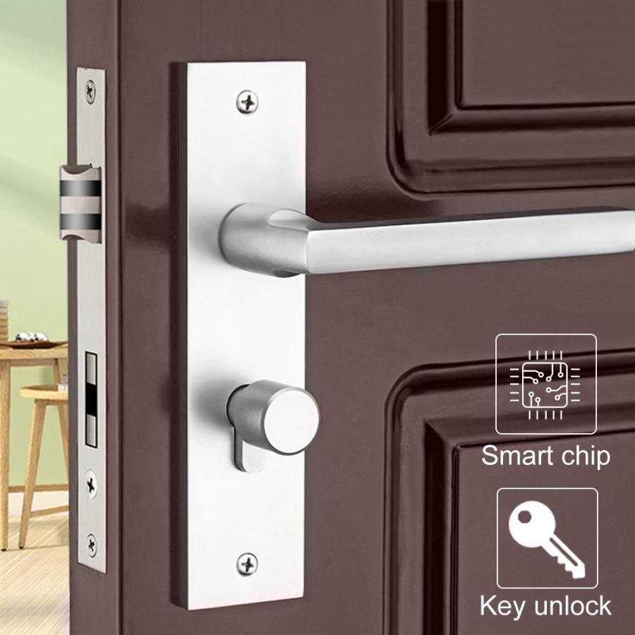 European Style Door Handle Lock Indoor Bedroom Living Room Mechanical Security Lockset in Door Locks from Home Improvement