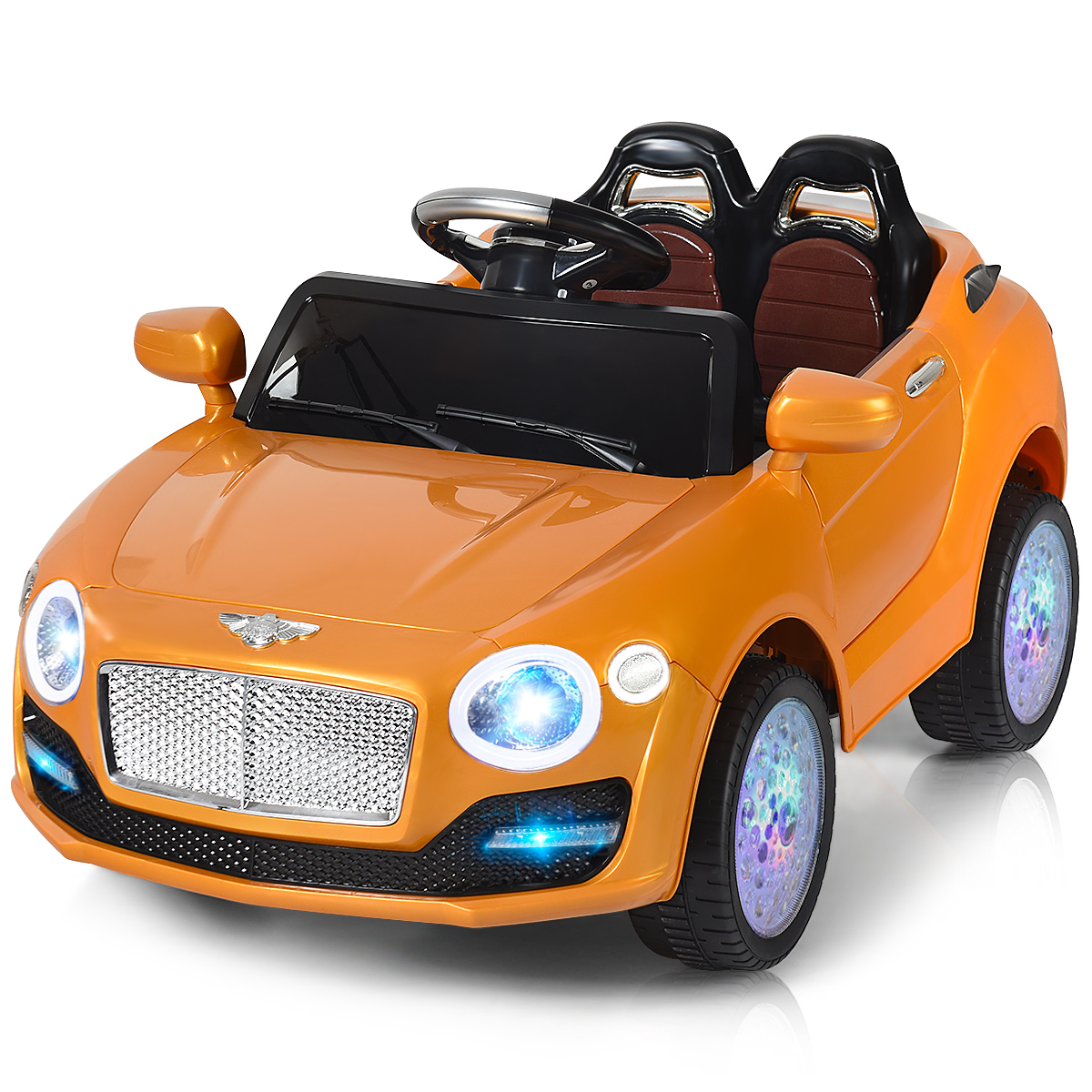 6V Kids Ride On Car Electric Battery Power RC Remote Control & Doors W/ MP3 Gold