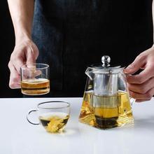 400/500 мл, высокотемпературный стеклянный чайник, китайский чайный набор, Чайник Пуэр, Кофеварка, стеклянный чайник, удобный офисный чайник с фильтром
