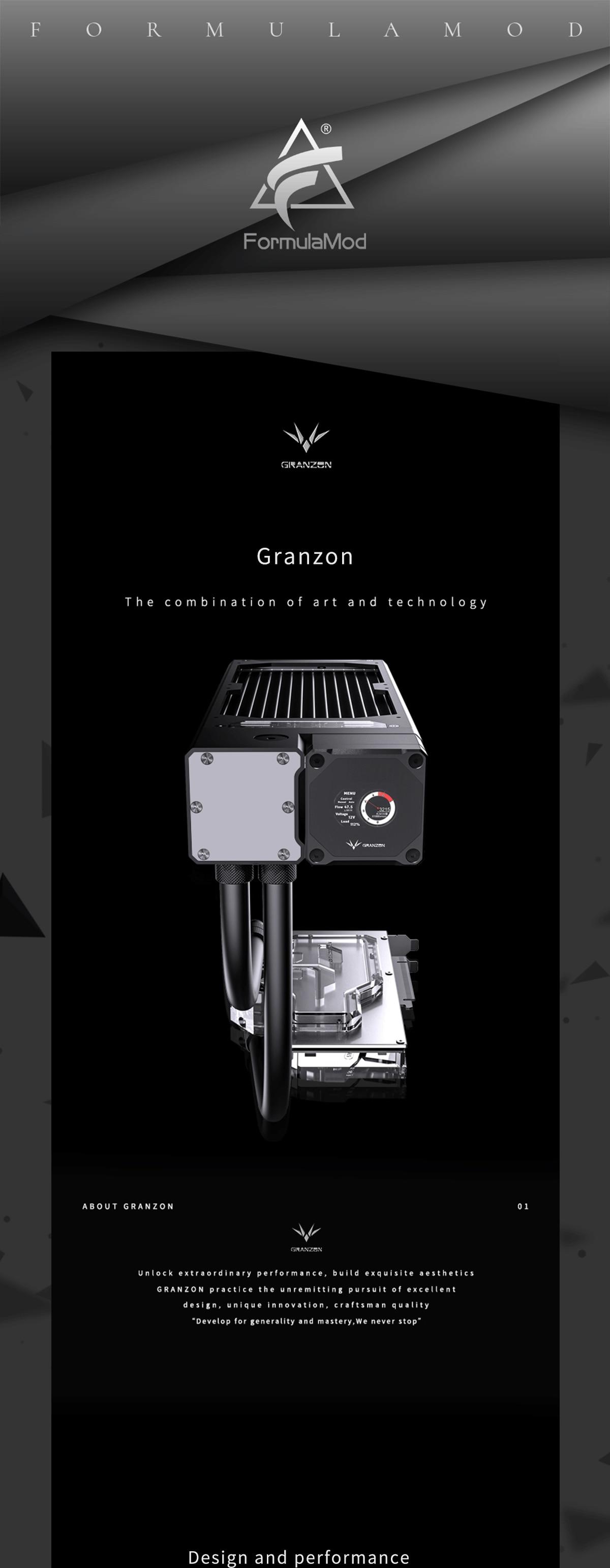 Granzon Advanced GPU Water Cooling Kit With Bykski GPU Block/PWM DDC Pump/240 Radiator/A-RGB Fan/AIO Sotf Tube, GZGPU-M240N