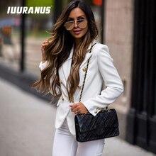 IUURANUS 2019 Solid Women Blazer Suit Coat Autumn OL Work Bussiness Jacket Plus Size Jackets Veste Femme Slim Ladies Blazer Femi все цены
