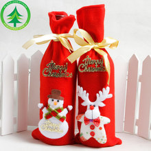 2020 red wine bottle cap decoration family party decoration Santa Claus Christmas Santa Claus Christmas gift