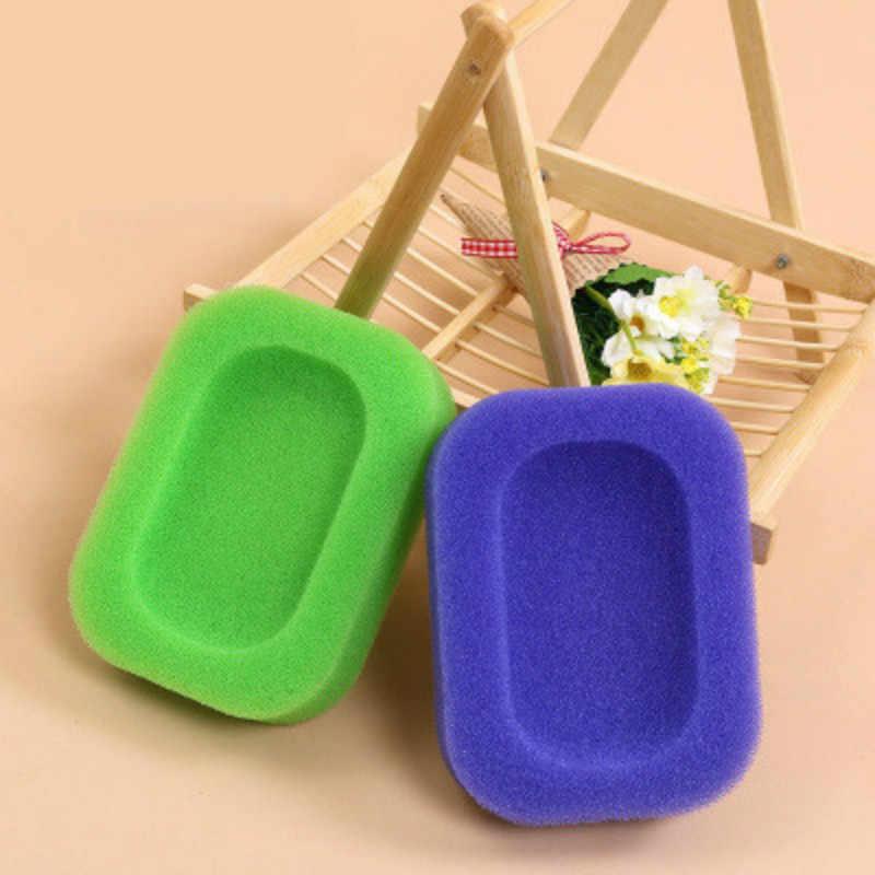 2019 Candy Kreatif Busa Spons Sabun Cuci Piring Piring Kotak untuk Kamar Mandi Dapur Shower Sabun Saver Tray @ 2