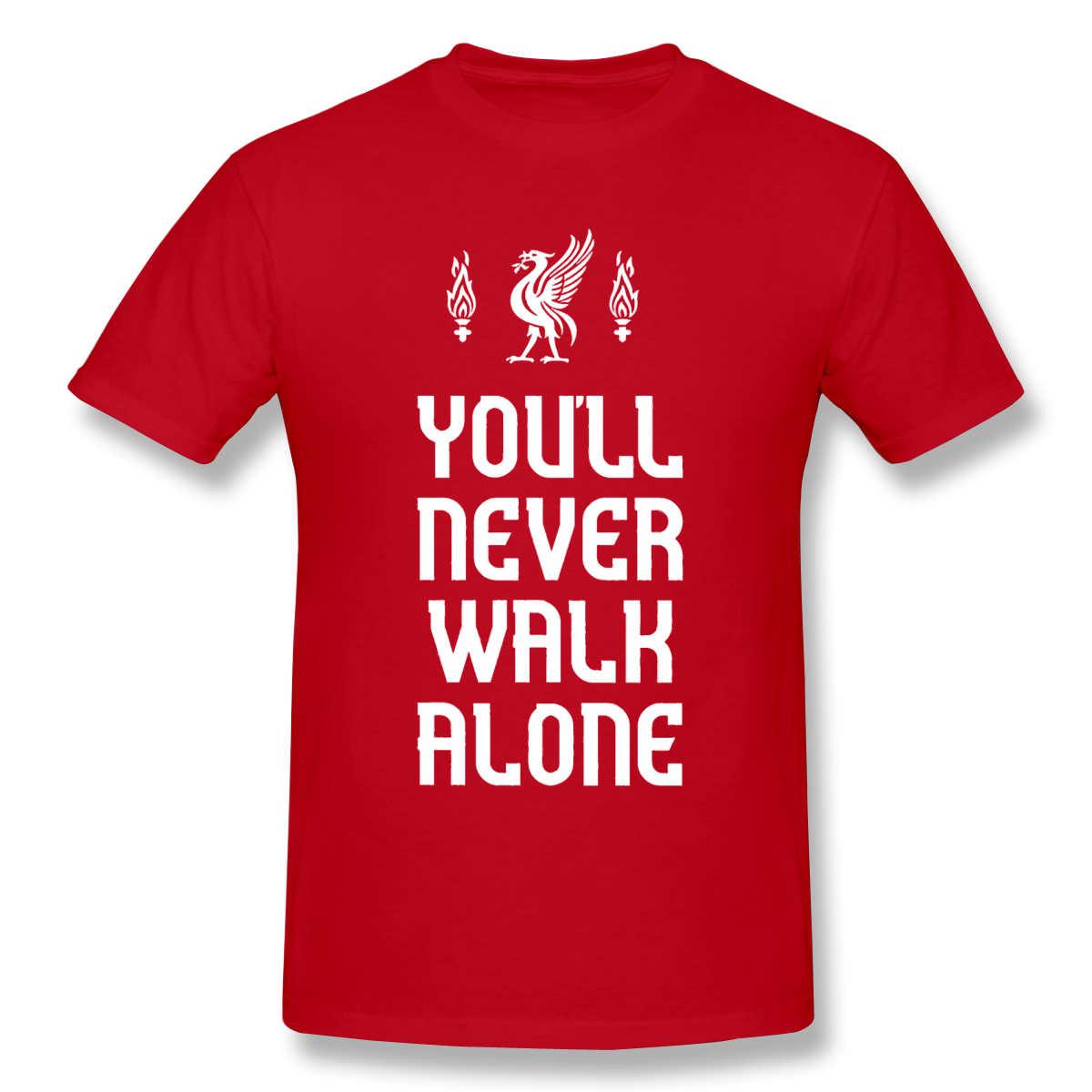 Camisetas para hombres, pájaros, nunca caminan solos, camiseta de alta calidad, camisetas para el Día del Padre, ropa de algodón 100%, camisetas de algodón puro Liverpool