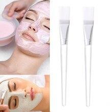 Brochas de Maquillaje profesionales, 2 uds., brocha Para máscara Facial, cepillo de mezcla Facial, cosmética, belleza, cuidado de la piel, Brochas Para Maquillaje