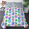 BeddingOutlet Pineapple Bedding Set Tropical Palm Leaves Soft Comforter Cover 3 Pieces Duvet Cover With Pillowcases Beddengoed 1