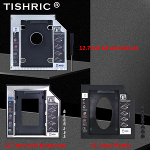 TISHRIC Universal 9.5mm 12.7mm SATA 3.0 2nd HDD Caddy 2.5'' SSD Case Optibay DVD HDD Hard Disk Enclosure Adapter For Laptop