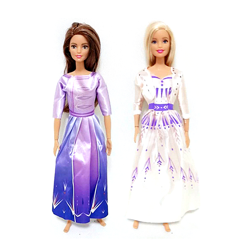 Elsa Anna Princess Outfits <font><b>Clothes</b></font> Set for 1/6 <font><b>BJD</b></font> <font><b>SD</b></font> Doll <font><b>Clothes</b></font> Accessories Play House Dressing Up Costume Kids Toys Gift image