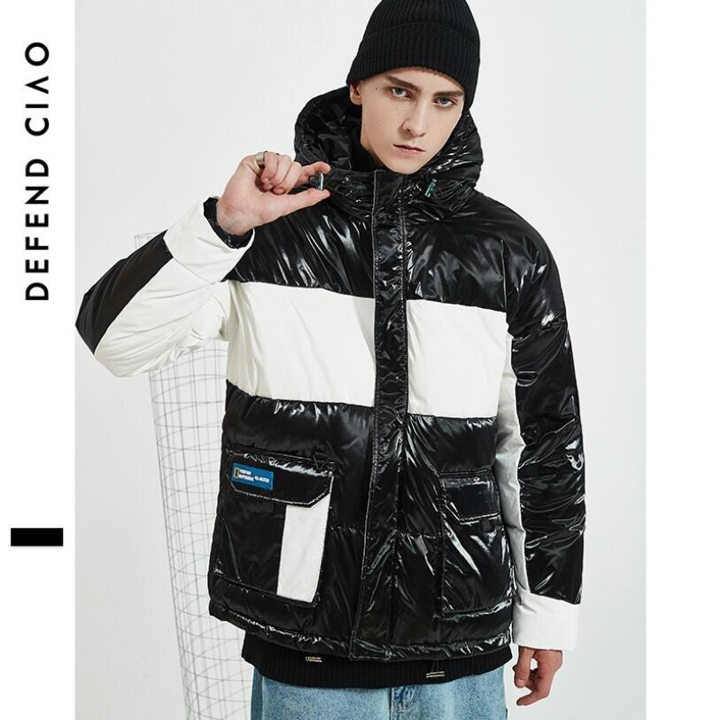 2019 mode patchwork sports d'hiver veste de ski pour hommes snowboard costumes à capuche chaud ski manteau imperméable vers le bas vestes à l'extérieur