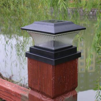 Energía Solar LED Pilar lámpara exterior jardín valla lámpara patio poste Cap luces jardín seguridad lámpara Solar Dropshipping