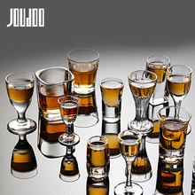 JOUDOO 2/4/6/8PCS Crystal Cup Shot Glass Creative Spirits Wine glasses Party Drinking Charming Thick Bottom 35