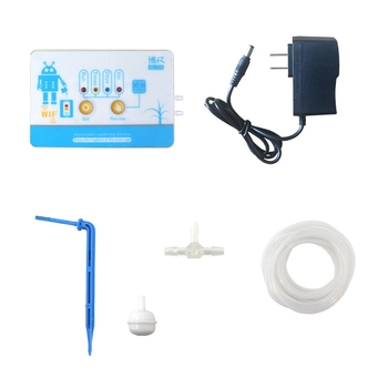 Mobile Phone Remote WIFI Control Watering Device Intelligent Auto Drip Irrigation System Garden Plant Water Pump Timer US Plug