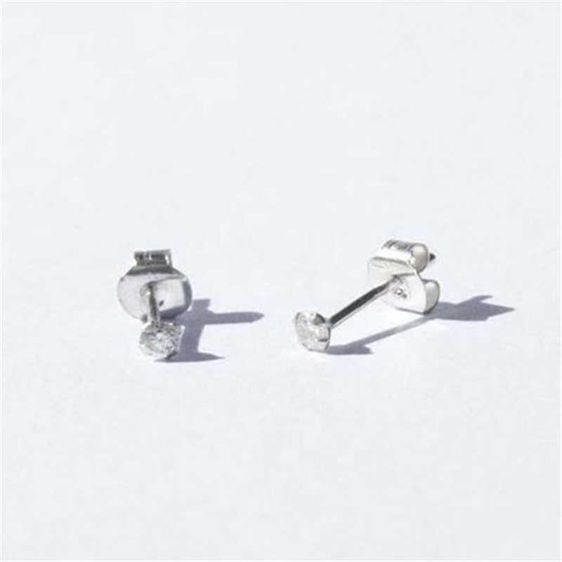 925 純銀製のイヤリングウェディングパーティー小さなジルコンのイヤリングの女の子ギフトゴールドクリスタル耳骨ピアスイヤリング R5