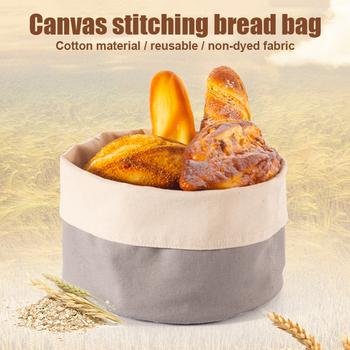 Bawełniane płótno worek do chleba naturalny niebielony spożywczy koszyk na chleb do umieszczania chleba szybka dostawa tanie i dobre opinie CN (pochodzenie) Jedzenie Tkaniny Bread Ekologiczne