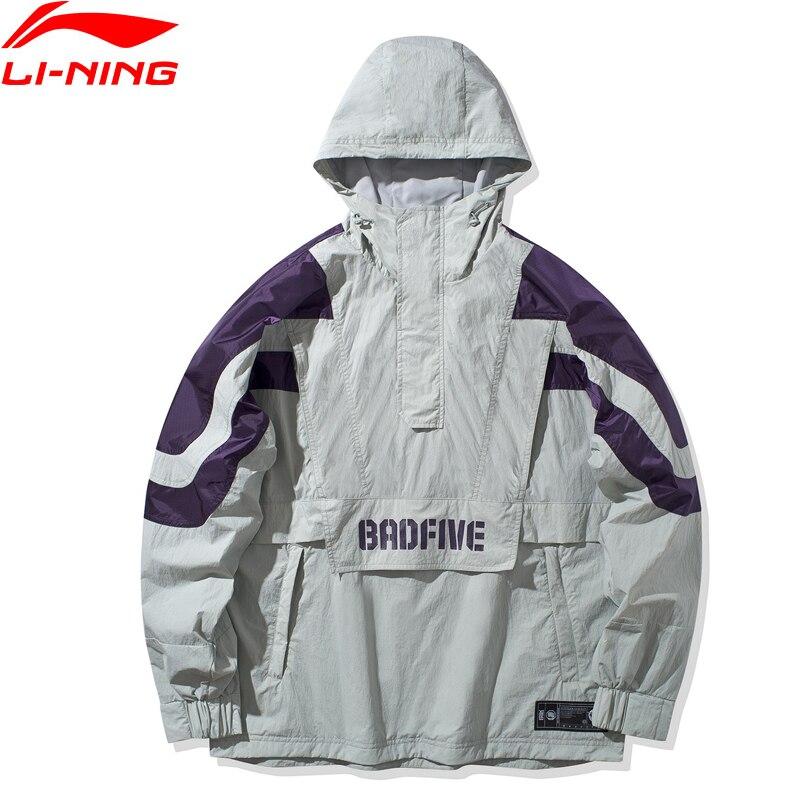 Мужская баскетбольная ветровка Li Ning, свободная ветрозащитная куртка с капюшоном и нейлоновой подкладкой, AFDQ037 MWF413|Баскетбольные майки|   | АлиЭкспресс