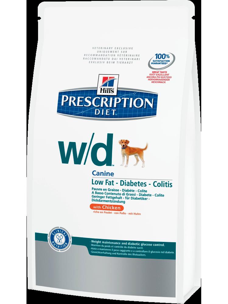 Hill's Prescription Diet W/D Digestive/Weight Management Food For Diabetes, 12 Kg
