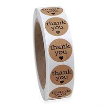 1 zoll Natürliche Kraft Papier Danke Aufkleber dichtung labes 1 Zoll geschenk Verpackung schreibwaren aufkleber 50 stücke Etiketten Pro rolle