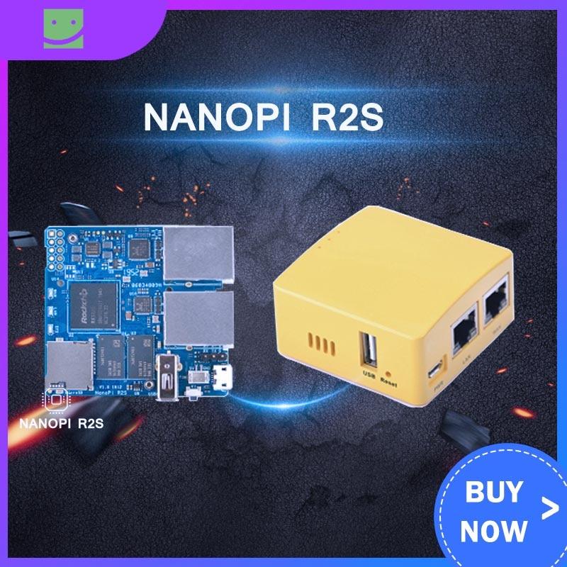 Friendlyarm NanoPi R2S NEW Demo Board Dual Gbps Ethernet Rockchip RK3328 Smart Home Gateways Support OpenWrt System