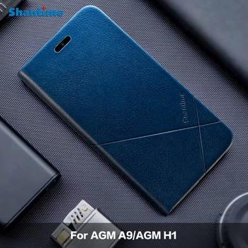 Перейти на Алиэкспресс и купить Для AGM A9 кожаный чехол для AGM H1 чехол для AGM A9 JBL чехол для AGM X2 чехол для телефона AGM X2 SE деловой чехол для AGM X3 чехлы