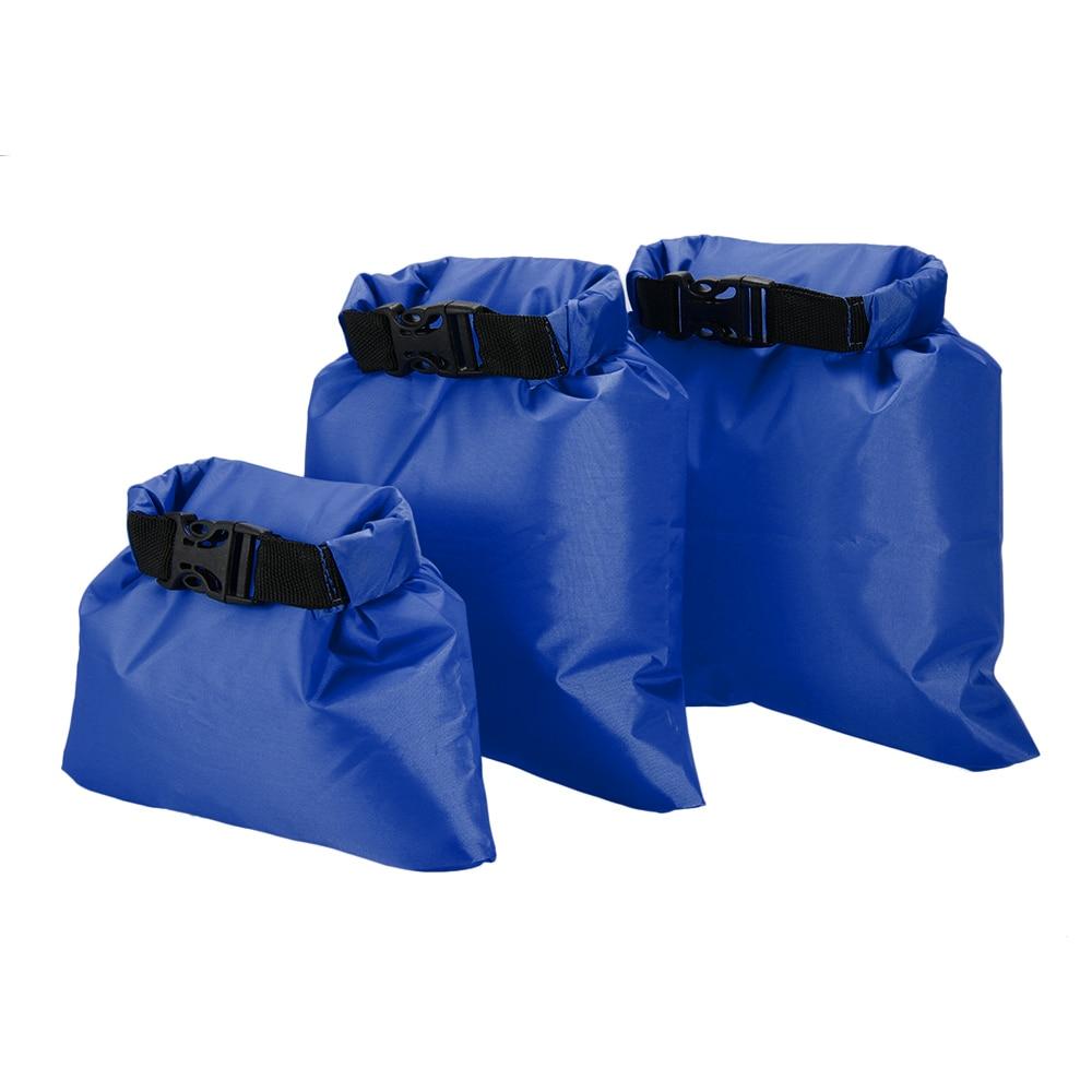 3pcs/lot Waterproof Bag Swimming Trekking Dry Bag Water Proof Bags 1L+2L+3L Ultralight Dry Sacks Camping Backpacking Kayaking