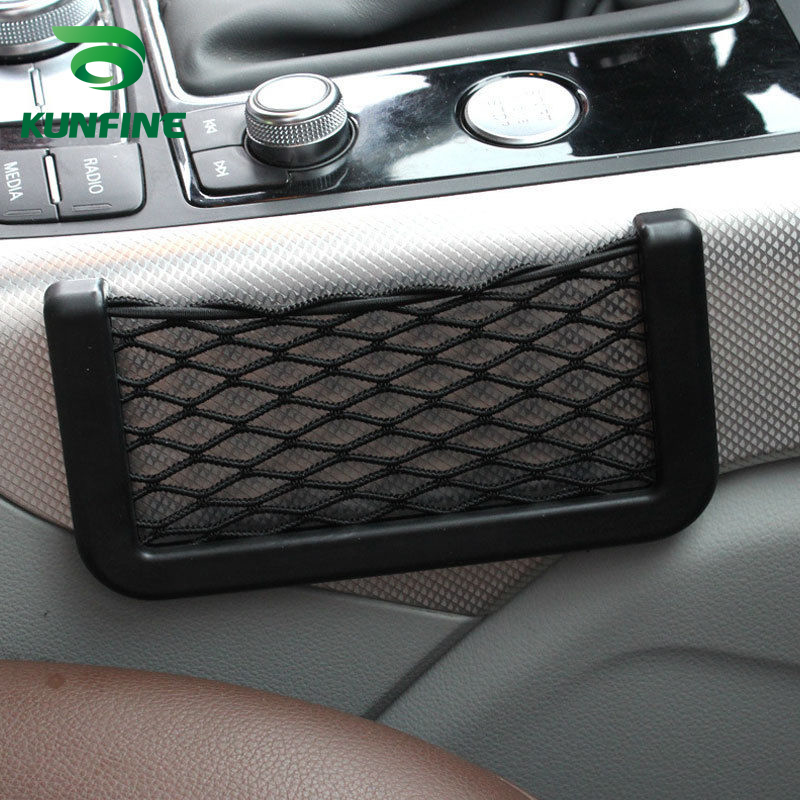 Car Multifunctional Phone Storage Net String Bag Phone Holder Ticket Pocket B