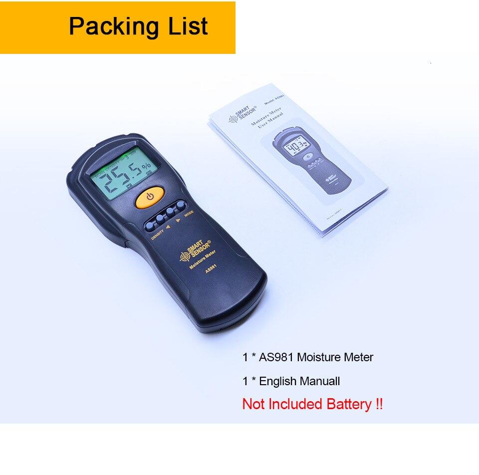 As981 não contato medidor de umidade de