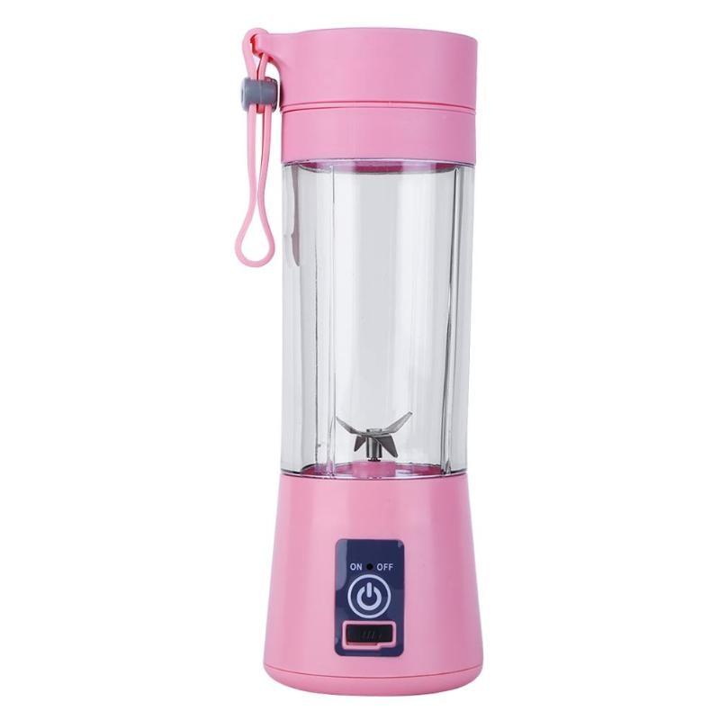 Новинка 380 мл Usb Перезаряжаемый блендер миксер 6 лезвий соковыжималка Бутылка Чашка сок Цитрусовые Лимон овощи фрукты смузи соковыжималки Reame - Цвет: Pink