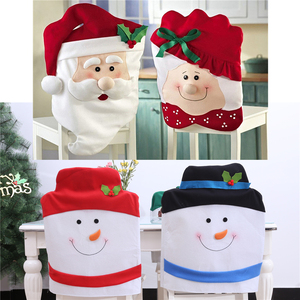 2020 Free delivery Santa Hat Chair Covers Christmas Decor Dinner Chair Xmas Cap Sets Dinner Table Hat Chair Back Covers For Home